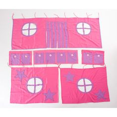 Girls Loft Bed  Curtains (component)
