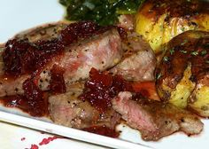 Food for Hunters: Venison Steaks with Cherry Shallot Sauce