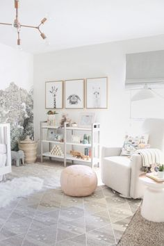 Project Nursery - Serene, Neutral Girl Nursery inspired by Nature - Project Nursery