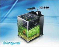Acuario Nano 10 L.Livingwall JG-380. Dimensiones del tanque: 26 x 21 x 27,5 cm. Iluminación: lámpara LED 3W LUZ DE LUNA (Luz blanca y azul). Bomba y materiales filtrantes incluidos. Capacidad 10 litros. *** Precio 69€ ***