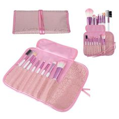 Natural Natural Pink Professional Makeup Brush Set Eyeshadow Eyeliner Lip Gloss Blush Brushes New #Affiliate