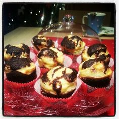 Black bottom cupcakes with soft cheese
