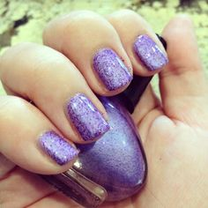 """Lilac Fizz"" by milly. Hand blended nail lacquer crelly"