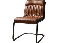 Capri Brown Leather Chair