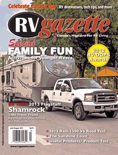 Vidler RV Travels is featured in the July/August 2013 issued of RV gazette