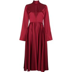 Beaufille Maxi dress with flared sleeves (90.750 RUB) ❤ liked on Polyvore featuring dresses, red, bell sleeve dress, bell sleeve maxi dress, red dress, red bell sleeve dress and maxi length dresses