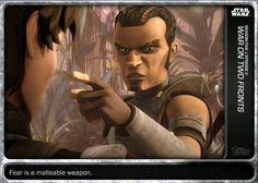 Topps Star Wars Card Trader The Clone Wars Morals War on Two Fronts Base Digital