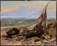 The Fishing Boat - Gustave Courbet. Oil on canvas.