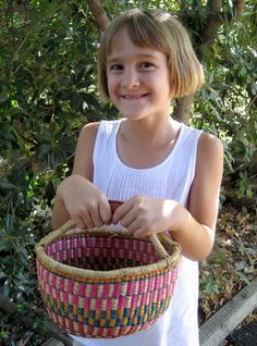 Child's bolga basket. Maybe an Easter present for Sophia. She's always trying to run off with mine.