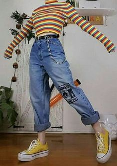 Indie Outfits, Teen Fashion Outfits, Retro Outfits, 80s Fashion, Vintage Outfits, Girl Outfits, 80s Inspired Outfits, Funky Fashion, Swaggy Outfits
