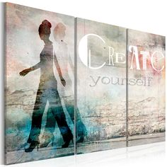 Artgeist - Tableau Create yourself triptych Taille L 60 x H 40 cm Painting Frames, Painting Prints, Wall Art Prints, Poster Prints, Framed Prints, Canvas Prints, Framed Wall Art, Frames On Wall, Images D'art