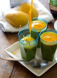 Papaya Mango Smoothie @Pinch of Yum