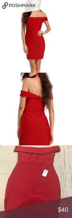 Red bandage dress Never worn. Tag is not attached. Super cute. Windsor Dresses