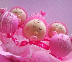 Baby shower for girl. Cake pops