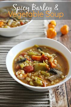 Spicy Barley and Vegetable Soup - Frugal Mom Eh!
