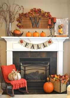 Fall Decor Banner measures 5' long. The perfect size for a fireplace mantle or…