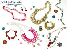 Botanical Necklaces made with BeadGallery beads available exclusively from @Michael Dussert Sullivan Stores