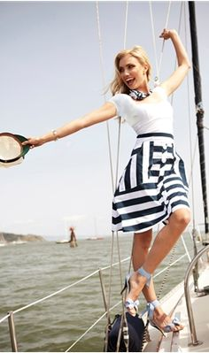 Lost at Sea Skirt from Shabby Apple