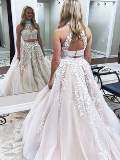 Two Piece Prom Dresses, Pink Prom Dresses, Tulle Prom Dresses, Lace Prom Dresses #babyonlinedressuk #promdressuk #promdresses Prom Dresses Two Piece, A Line Prom Dresses, Ball Gowns Prom, Bridesmaid Dresses, Event Dresses, Party Dresses, Formal Dresses, Wedding Dresses, Two Piece Dress