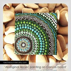 Coastal Art Dot Painting Aboriginal Art small by RaechelSaunders, $20.00