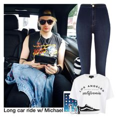 """Long car ride w/ Michael"" by x5sosfam-1dx ❤ liked on Polyvore featuring River Island, Topshop, Vans, women's clothing, women, female, woman, misses and juniors"