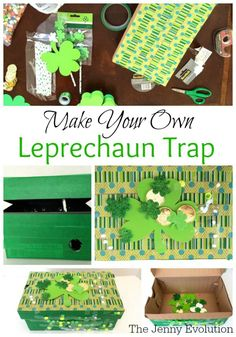 Make Your Own Leprechaun Trap - A St. Patrick's Day Craft with the Kids | The Jenny Evolution
