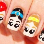 Heads Simple And Easy Nail Art Designs For Kids 002