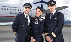 The famous greek designer Sofia Kokosalakis designed the brand new uniforms for the greek Agean Airlines