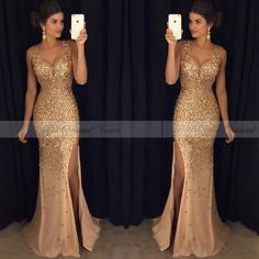 Slit dress prom - Sexy Long Crystal Beaded Prom Dress With Slit Mermaid Prom Dresses Evening Gown 125 from Fashiondressess – Slit dress prom Backless Mermaid Prom Dresses, Beaded Prom Dress, Mermaid Evening Dresses, Formal Evening Dresses, Formal Prom, Dress Formal, Formal Wear, Dress Prom, Bridesmaid Dress