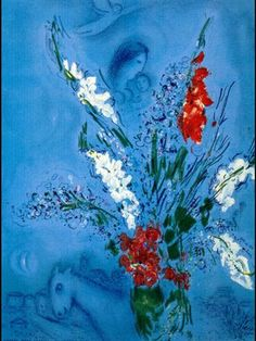 The Gladiolas - Marc Chagall, 1967