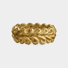 18K Gold Lace Border Ring Brigitte Adolf, 2010