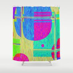 Re-Created  Building Blocks I  Shower Curtain by Robert S. Lee - $68.00