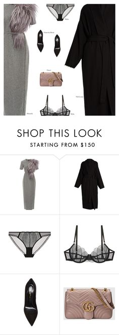 """""""Untitled #4574"""" by amberelb ❤ liked on Polyvore featuring Hensely, Nili Lotan, Gianvito Rossi and Gucci"""