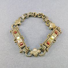 Victorian Antique Bracelet Mother Pearl Jewelry Gold by OldLockets, £62.90