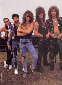 Original 5 members of Bon Jovi Jon Bon Jovi, Bon Jovi 80s, Big Hair Bands, Hair Metal Bands, Metallica, 80s Hair Metal, Bon Jovi Always, Idol, Jersey Boys