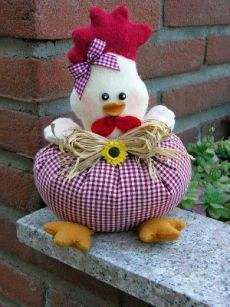 Maria Sanchez Easy Sewing Projects, Sewing Crafts, Chicken Pattern, Chicken Crafts, Farm Fun, General Crafts, Cat Crafts, Sewing Rooms, Diy Pillows