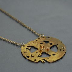 Steampunk Necklace Contemporary Jewelry Cyberpunk Jewelry