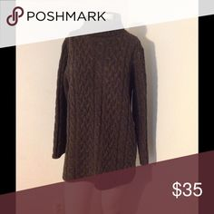 "CableKnit Wool Aran Fisherman Sweater 🦃SALE🦃 Very nice Aran style sweater. By Valerie Stevens. Longer sweater in size Medium. 100% Lambswool. Great condition. Chest 44"" Length 29"" Runs big Valerie Stevens Sweaters Cowl & Turtlenecks"