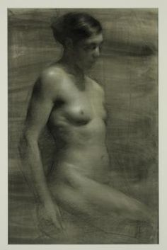 Yma, 2011, charcoal on toned paper heightened with white,phographicadrawings.com