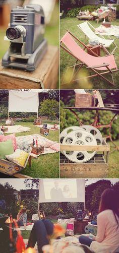 Bohemian style summer cinema