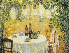 Sidaner, Henri le  (french, 1862-1929)  - Le Table au  Soleil   - 1911 | by *Huismus