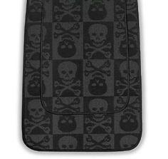 2 Piece Bathroom Rug Bath Mat Set - Black Skull & Crossbones