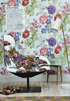 designers guild alexandria wallpaper as seen in schoner wohnen germany
