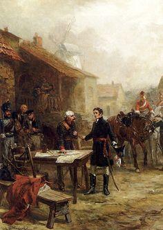 Wellington and Blucher Meeting Before the Battle of Waterloo. Robert Alexander Hillingford, wikimedia.com