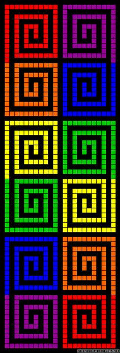 Rainbow squares perler bead pattern http://mistertrufa.net/librecreacion/groups/hama-beads