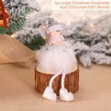 New Christmas Plush Standing Angel Doll Desktop Ornament Party Figurines Gifts
