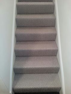 Sisal carpet on stairs at a job in Westminster! Best Carpet For Stairs, Stairway Carpet, Carpet Stairs, Hall Carpet, Room Carpet, Sisal Carpet, Diy Carpet, Rugs On Carpet, Carpet Ideas
