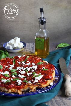 Tarte Tatin de Tomates Balsamique et Feta / Petit Bec Gourmand