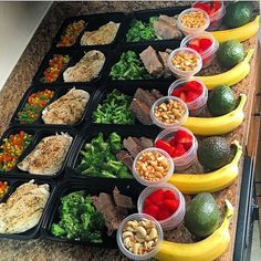 """Couldn't have said it any better! Word to the wise! Great meal prep by@corcarp5 :::::::::::::::::::::::::::::::::::::::::"""" #Momentum Momentum is extremely hard to gain and equally as easy to lose. This goes for nutrition just as much as anything else in life. Meal prepping is the easiest way to ensure that I stay on that gain train all week long but like everything else in life worth having it takes WORK. Chicken & mixed veggies Shoulder roast & broccoli Avocado Cashews Strawberry Banana…"""