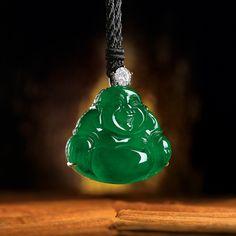 Impressive jadeite laughing buddha pendant budda pinterest magnificent natural jadeite laughing buddha and diamond pendant aloadofball Choice Image